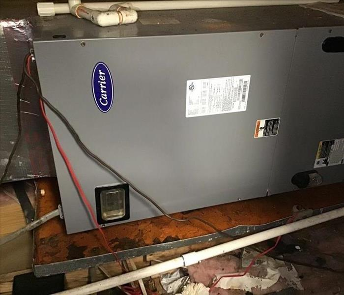 attic with water damage