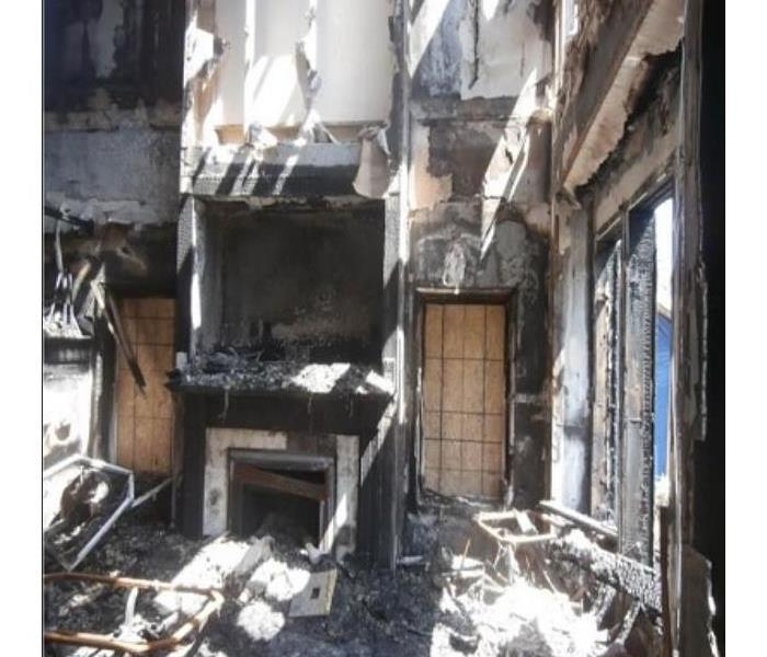 Complete loss of living area with very bad burns