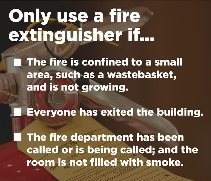 When to Use a Fire Extinguisher